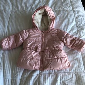 Baby Gap 12-18 months pink puffer coat